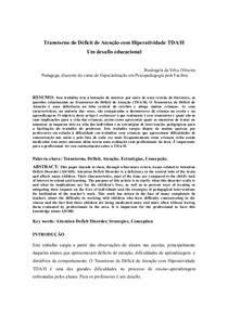 Artigo Hiperatividade TDA/H