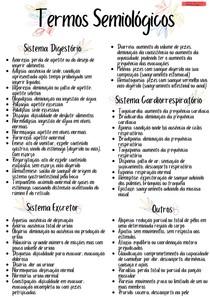 Termos semiológicos veterinários | PV I