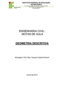 Geometria Descritiva- Apostila com Exercícios
