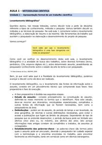 Texto - Metodologia Cientifica