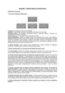 RESUMO   TEORIA GERAL DO PROCESSO