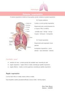 Histologia sistema respiratório