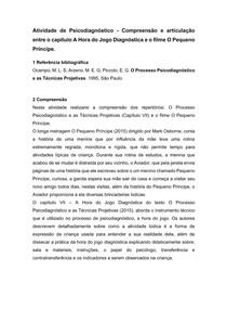 FICHAMENTO - A HORA DO JOGO DIAGNÓSTICA, OCAMPO E ARZENO - PSICODIAGNÓSTICO - 7° SEMESTRE