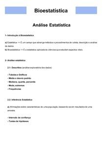 Bioestatística 01- Análise Estatística