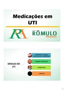 medicações utilizadas na uti