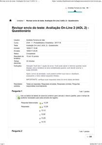 Avaliação On Line 2 (AOL 2)