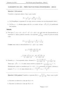 AD1 Pré Cálculo gabarito 2018.2