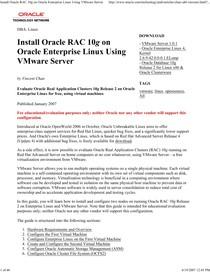 Install Oracle RAC 10g on Oracle Enterprise Linux Using VMware