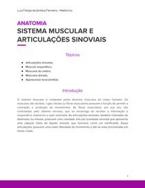 Sistema Muscular e Articulações Sinoviais