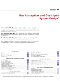 Capítulo 14 - Gas Absorption and Gas-Liquid System Design