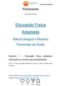 """Educação Física Adaptada: Introdução - Fichamento """"Educação Física Adaptada"""""""