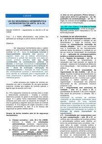 RESUMO - DIREITO CIVIL - 00 - LINDB - LEI DA SEGURANÇA HERMENÊUTICA