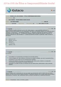 AV1e AV2 de Ética e Responsabilidade Social