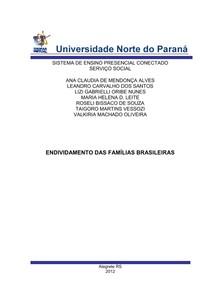 trabalho ENDIVIDAMENTO DAS FAMÍLIAS BRASILEIRAS