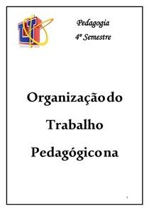 Web Aula Organização do Trabalho Pedagógico na Educação Infantil