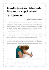 Estudos literários, letramento literário e o papel docente neste processo