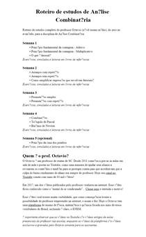 Roteiro de estudos de Análise Combinatória