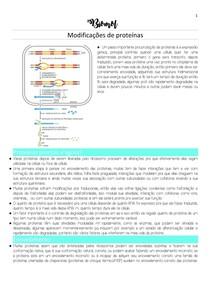 Modificações de proteínas