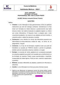 ATIVIDADE OFTAMO - Daniela Junqueira Gomes Teixeira