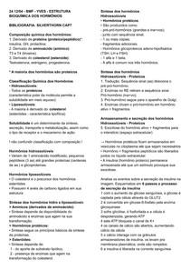 YVES ESTRUTURA BIOQUÍMICA DOS HORMÔNIOS