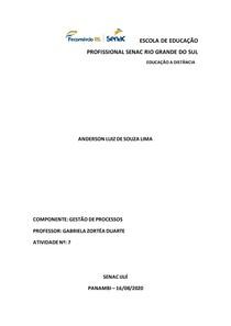Atividade 7 - Módulo 3 - Gestão de Processos