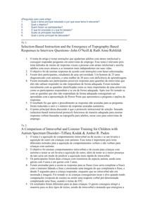 Estudos artigos Selection-Based instructions e A Compariton of intraverbal and listener training docx