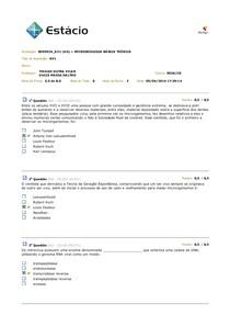 av1 microbiologia - Estacio Fase