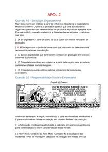 APOL 2 Sociologia Organizacional