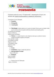 APOST PORTUGUES CONCURSOS