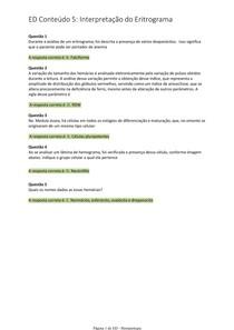Hematologia Clinica - AVA - ED Conteúdo 5 - Interpretação do Eritrograma