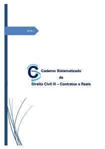 CADERNO DE CIVIL III   CONTRATOS E REAIS 2018.1