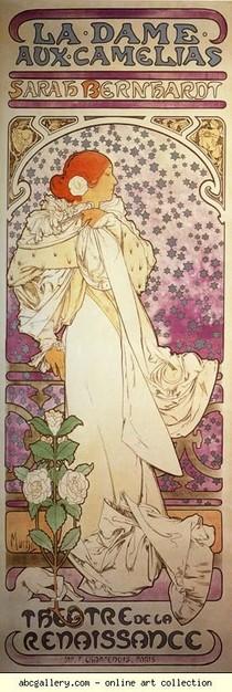Alphonse Mucha - La Dame aux Camélias