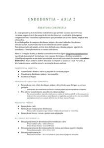 ENDODONTIA - 2 - ABERTURA