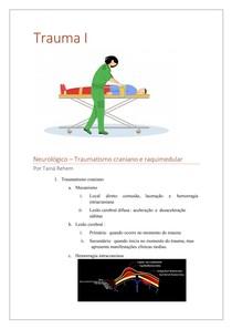Trauma Cranioencefálico (TCE) e raquimedular (TRM)