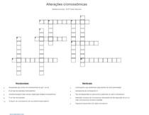 Palavras-cruzadas Alterações cromossômicas