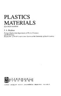 Plastics Materials   Brydson