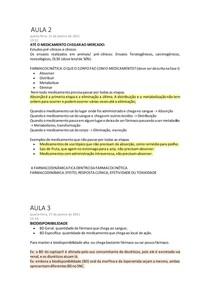 FARMACOLOGIA - Farmacocinética e Farmacodinâmica