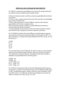 IMPULSO E QUANTIDADE DE MOVIMENTO_COM GABARITO