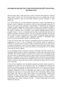 POSSIBILIDADES DE TRATAMENTOS FISIOTERAPÊUTICOS PARA NEUROPATIAS