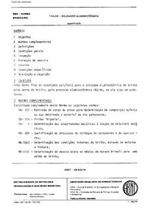 ABNT EB 833 1979 - Trilho - Soldagem aluminotérmica - Especi