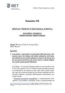 Seminario VII Casa - Modulo I - TSJ - 2020 - Mariana Araújo