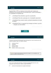 AVALIAÇÃO PARCIAL DISTRIBUIÇÃO FÍSICA