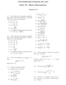 lista10 - Bases Matemáticas - Sequências II