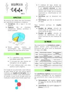 Bioquímica da Célula - Parte 1