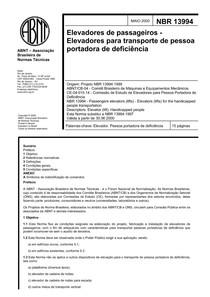NBR 13994 - Normas para Elevadores - Portadores de Deficiência