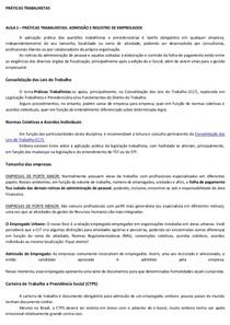 Apostila  PRATICAS TRABALHISTA