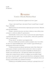 Resumo Convite A Filosofia Marilena Chauí Primeiro Semestr