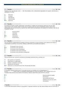 Avaliando PSICOLOGIA ORGANIZACIONAL E DO TRABALHO