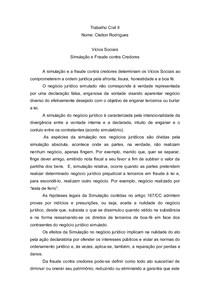 Trabalho Civil II Simulação e Fraude