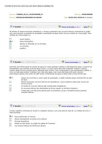 EXERCICIOS DE GESTAO DE RECURSOS HIDRICOS